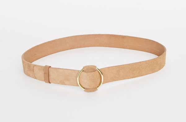 caravan & co cleo tan suede leather belt