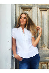 sofie top white linen
