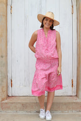 lola ruby mid dress posie pink