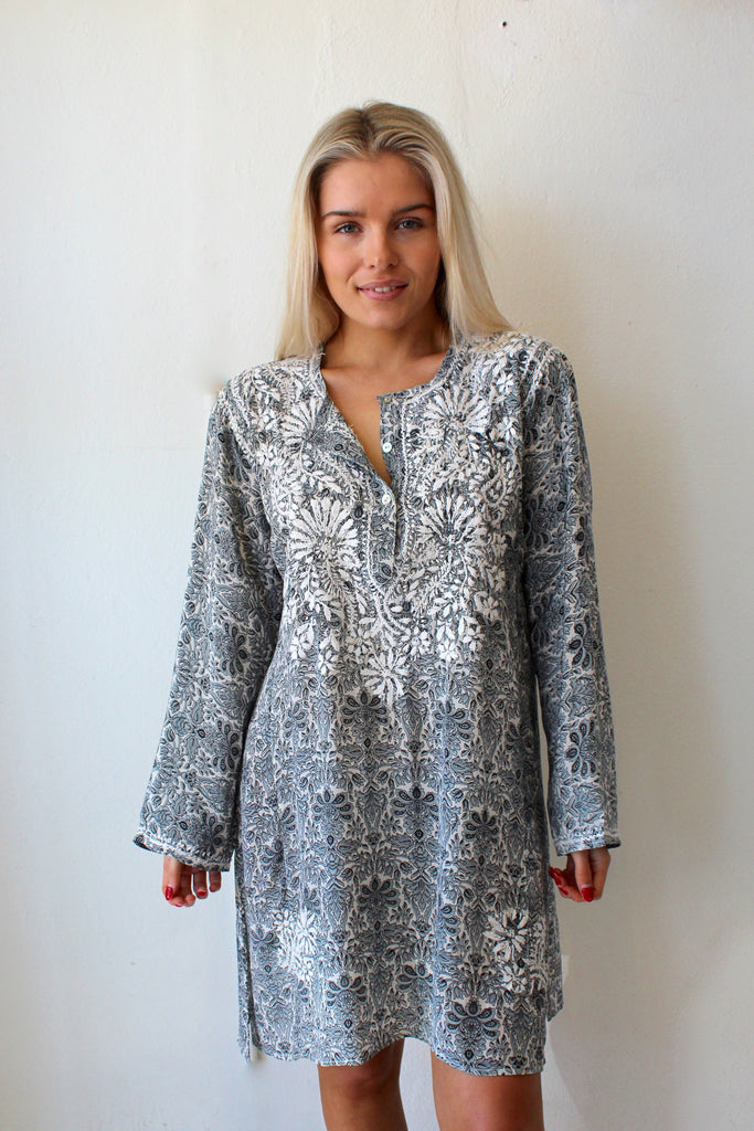 indiana long kaftan top