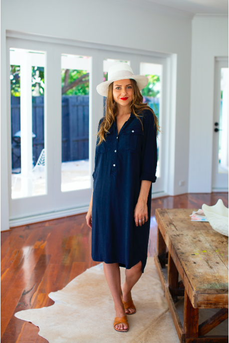 coco shirtdress navy