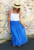 dita long skirt block blue