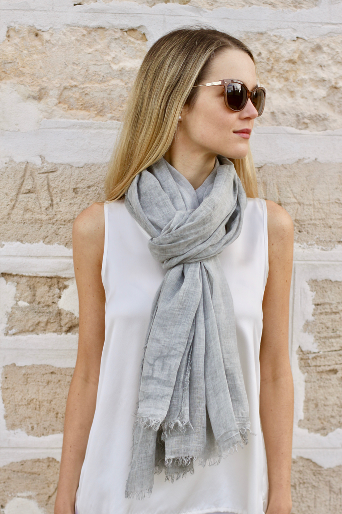 cotton scarf light grey