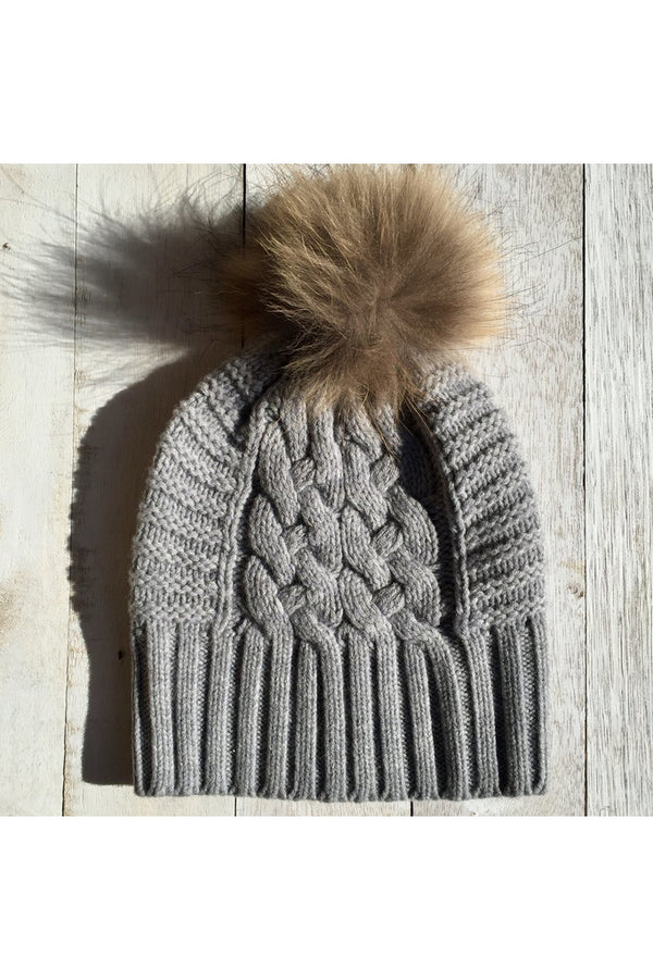 love kate up for anything beanie dove grey