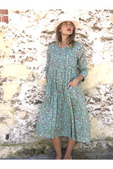mia dress sage/spot print ivy & Isabel
