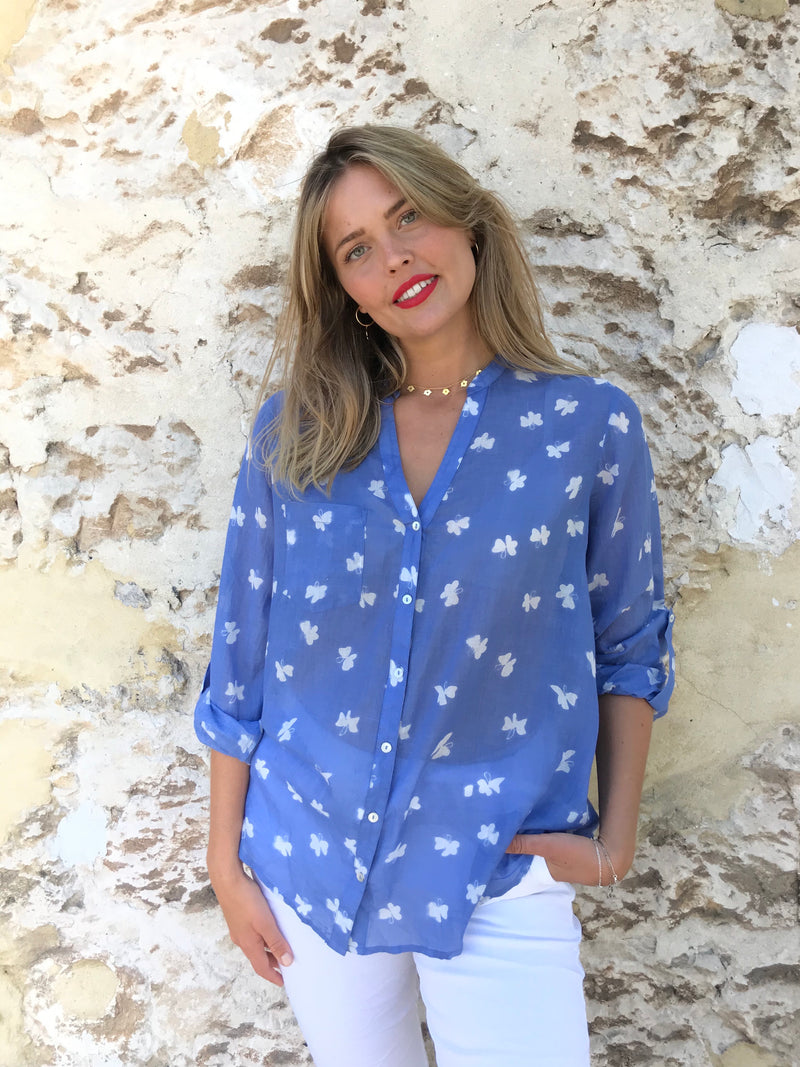 ivy and isabel caprice butterfly cotton shirt