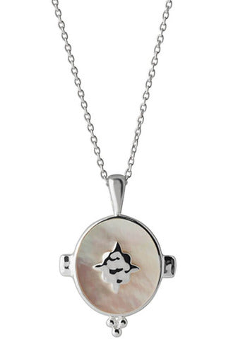 Murkani oval mother of pearl necklace sterling silver