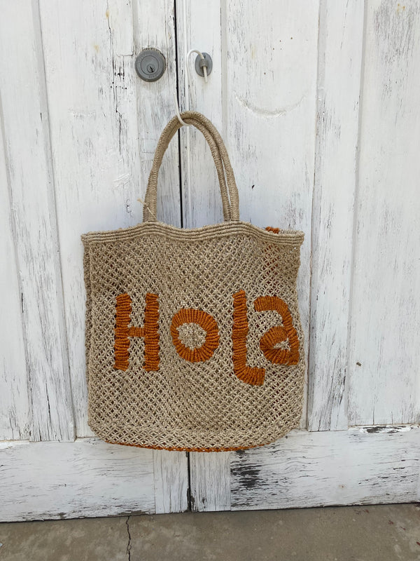 the jackons jute bag hola orange