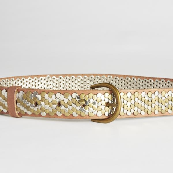 caravan & co morrison stud leather belt