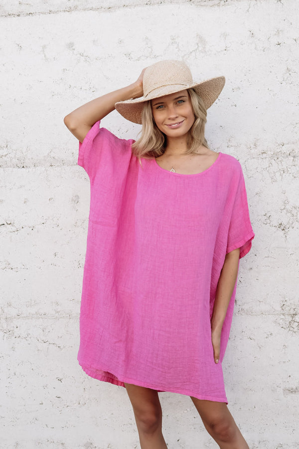 kiitos long linen gauze top 14 colours