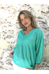 ivy & isabel ava top emerald