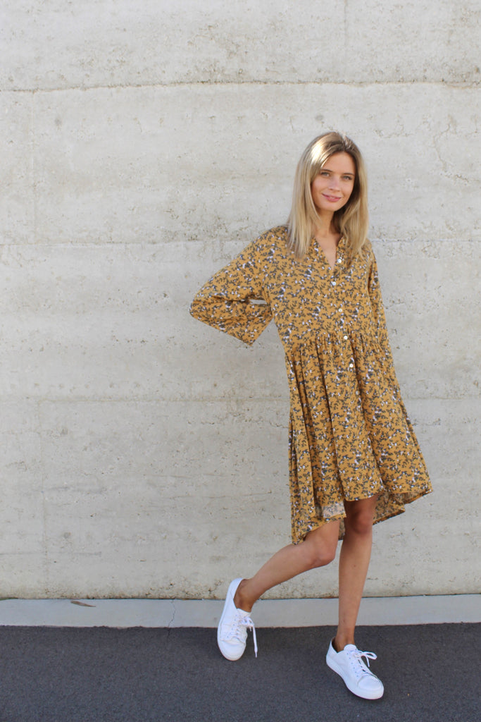 jody dress yellow floral