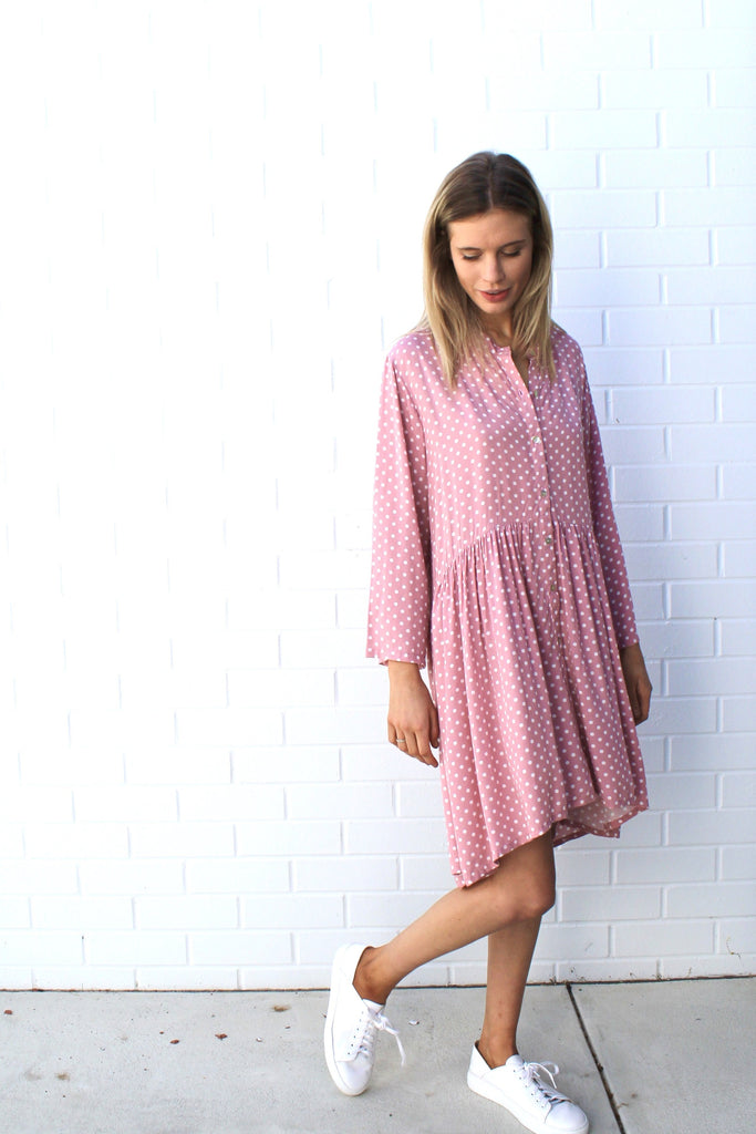 jody dress pink polka