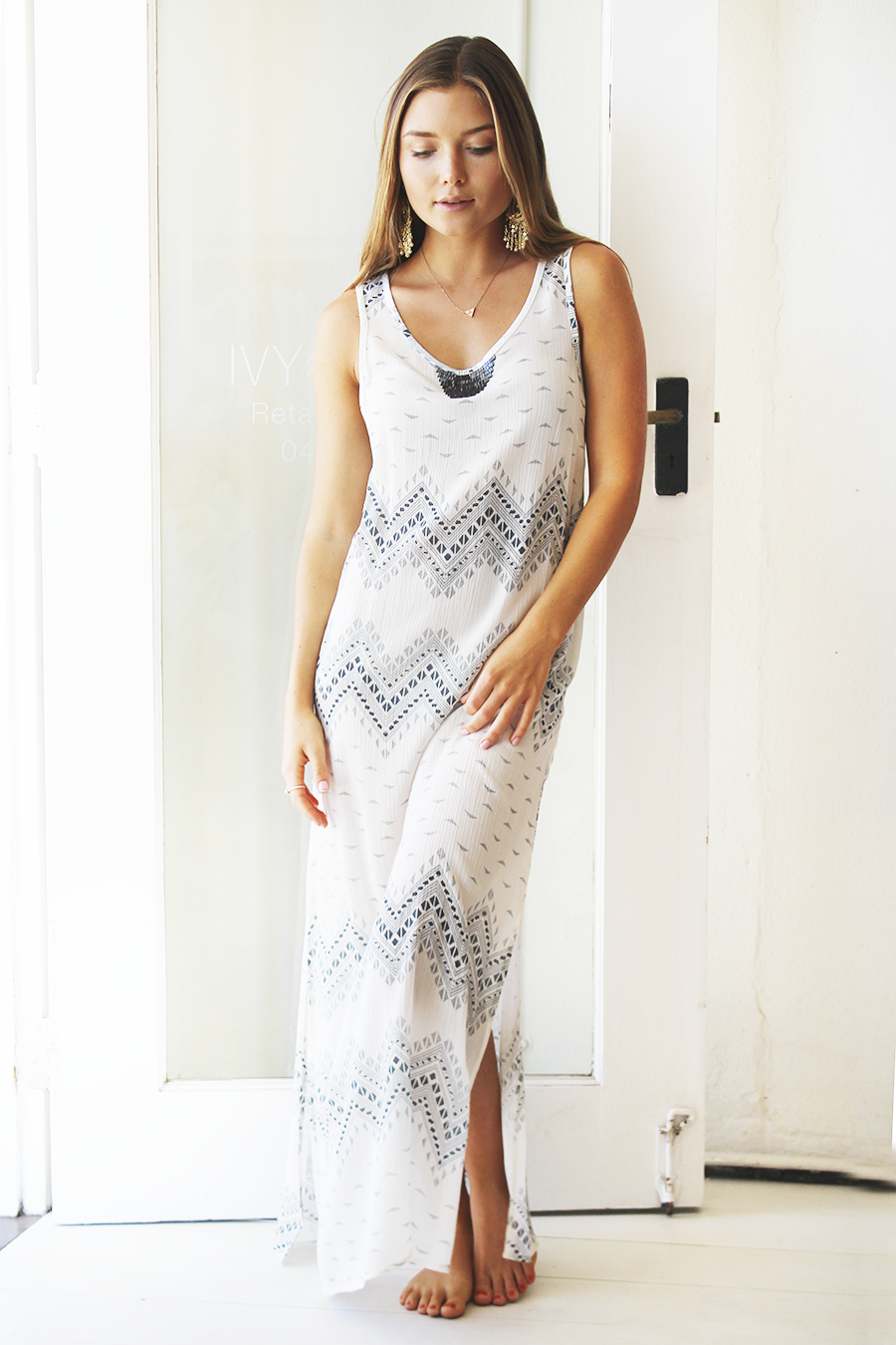 sunset maxi dress zigzag