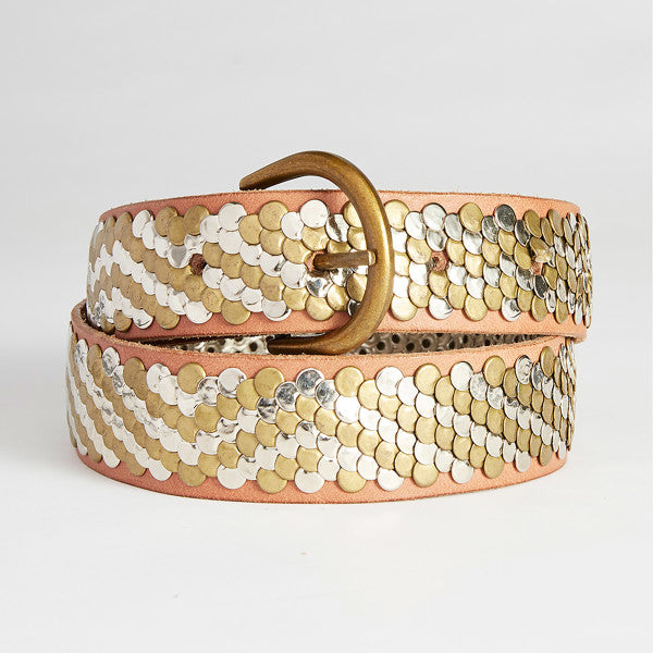caravan + co morrison stud leather belt