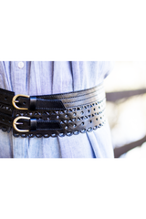 elena wide leather belt *three colours*