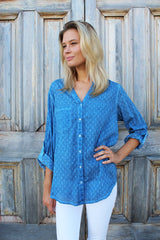 caprice shirt dark chambray spot