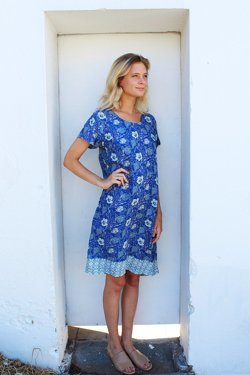 pandora dress dark blue floral