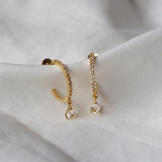 murkani tear drop hoop gold