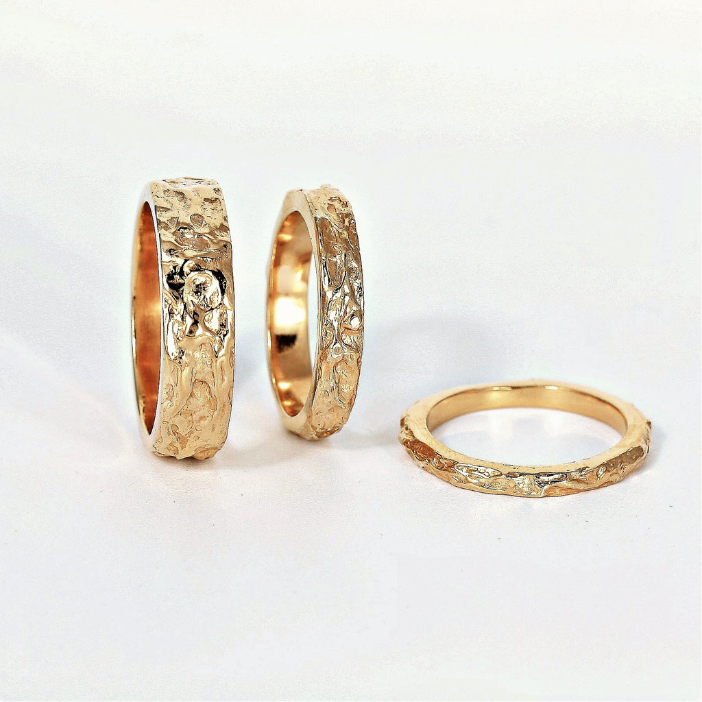 Gold Rustic Treasure Ring 3.5 mm