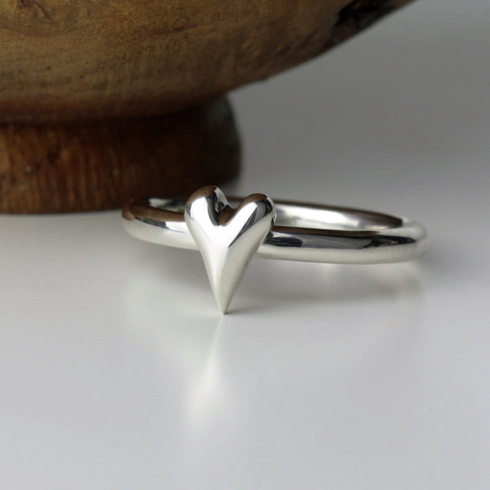 sterling silver wild at heart handmade ring