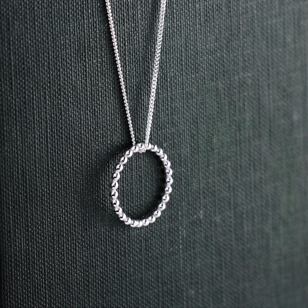 Circle of life handmade silver necklace