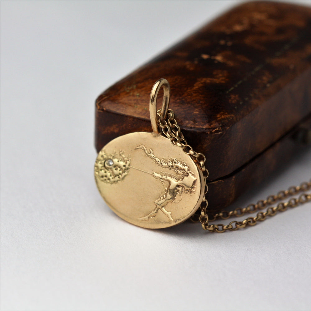 Dancing with Dandelions Rose Gold Diamond Necklace