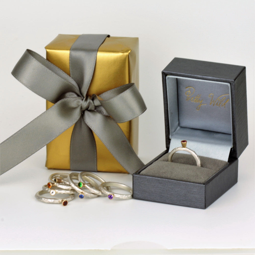 Pretty Wild Jewellery branded boxes and gift wrap