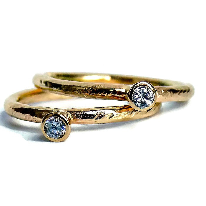 Designer gold diamond handmade unique engagement ring