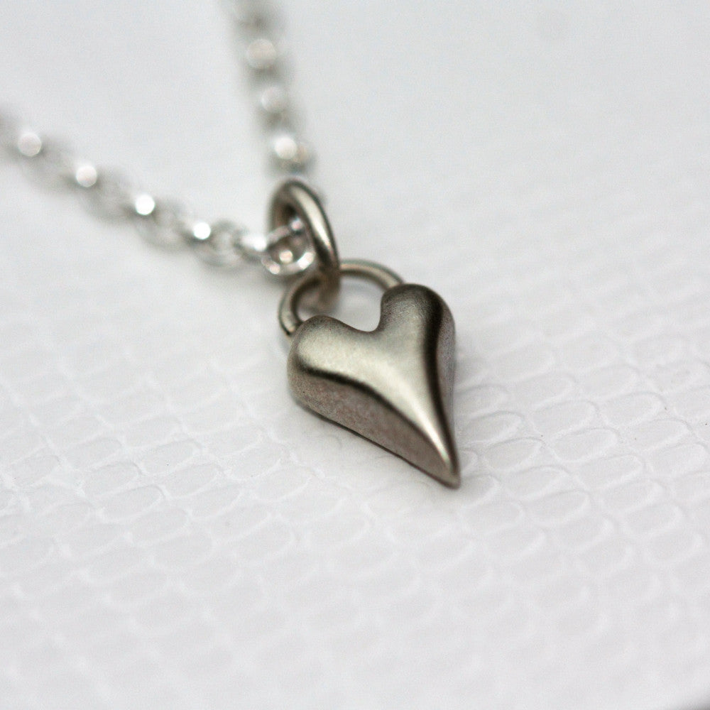 designer wild at heart sterling silver heart necklace