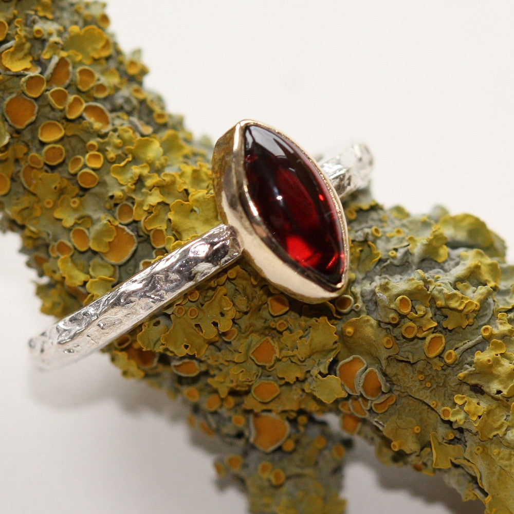 Marquise Garnet Treasure Ring
