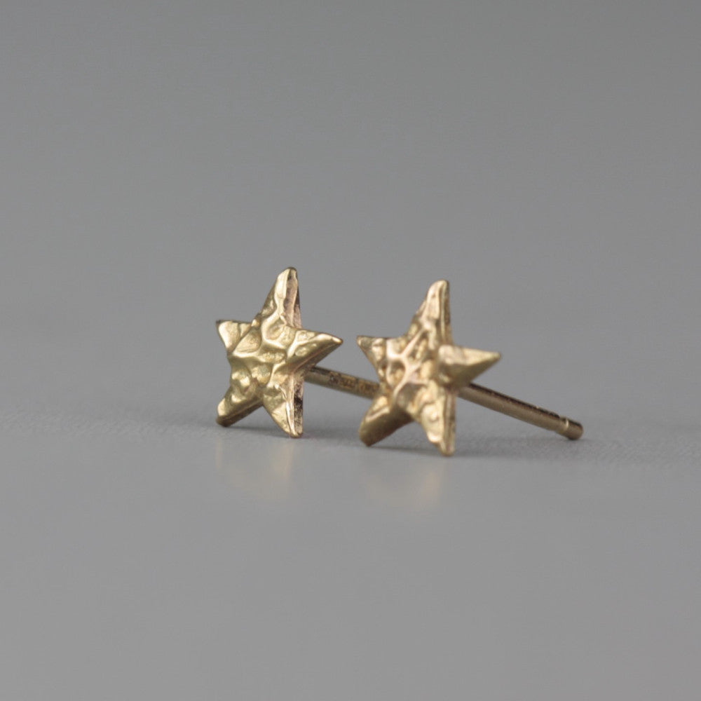 Universe 9ct gold dainty star stud earrings