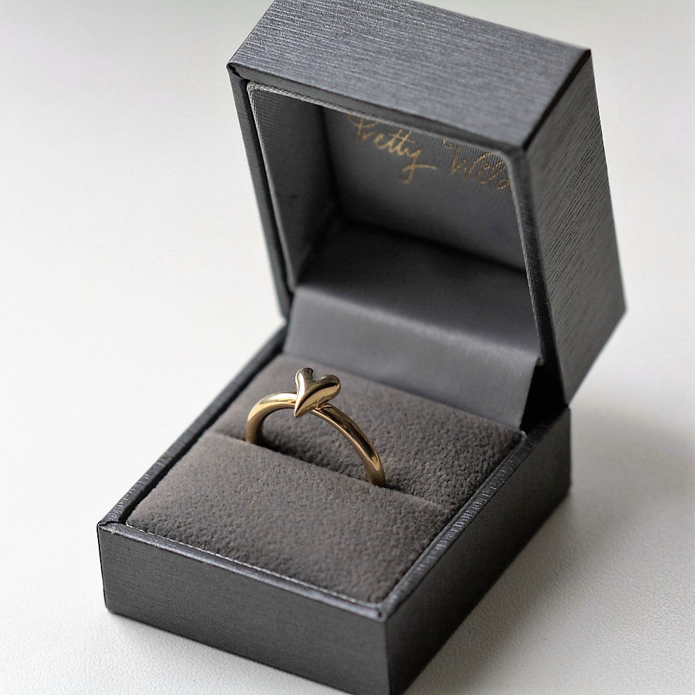 wild at heart solid gold heart ring band