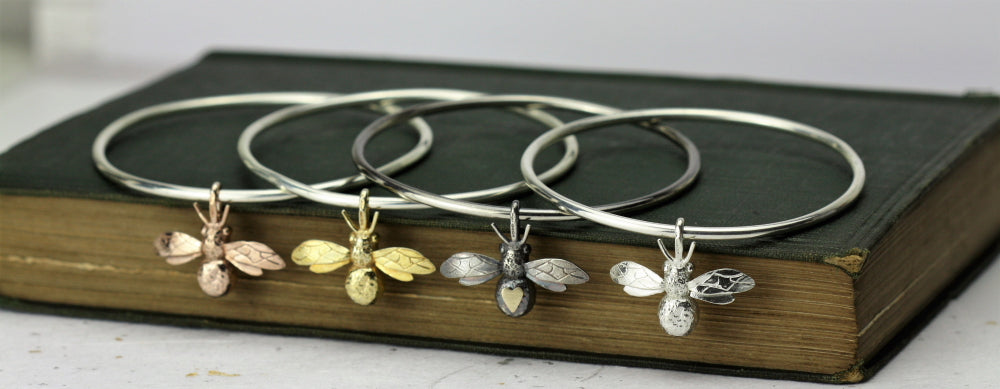 handmade bee bangle