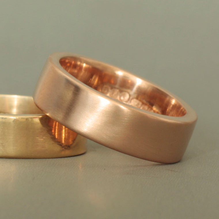 Rose Gold Wide Wedding Ring