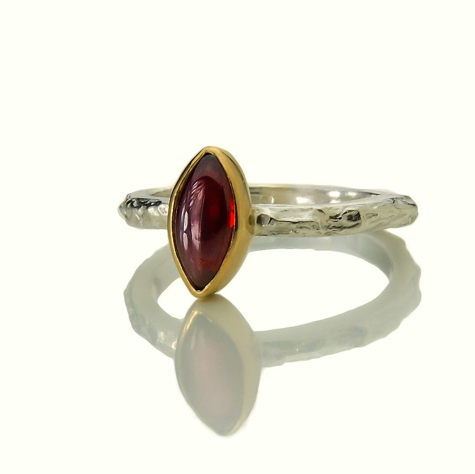 Garnet Marquise Treasure Ring