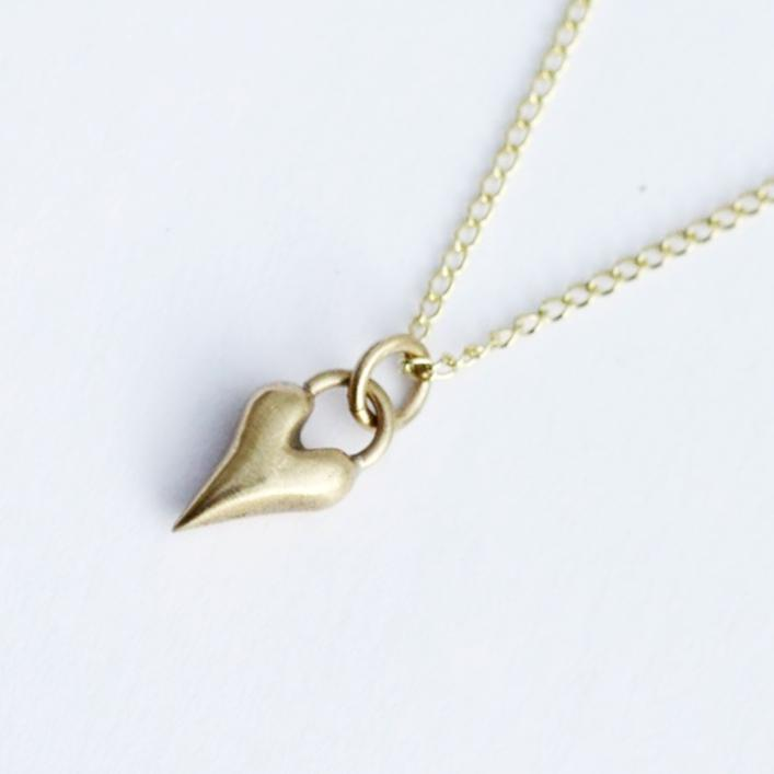 handmade gorgeous solid gold wild at heart necklace