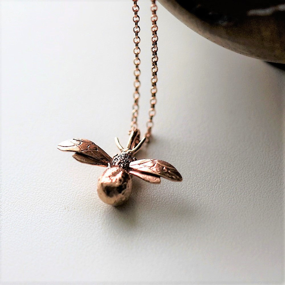 rose gold handmade bespoke necklace