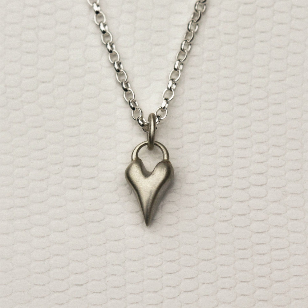 Handcrafted sterling silver heart necklace