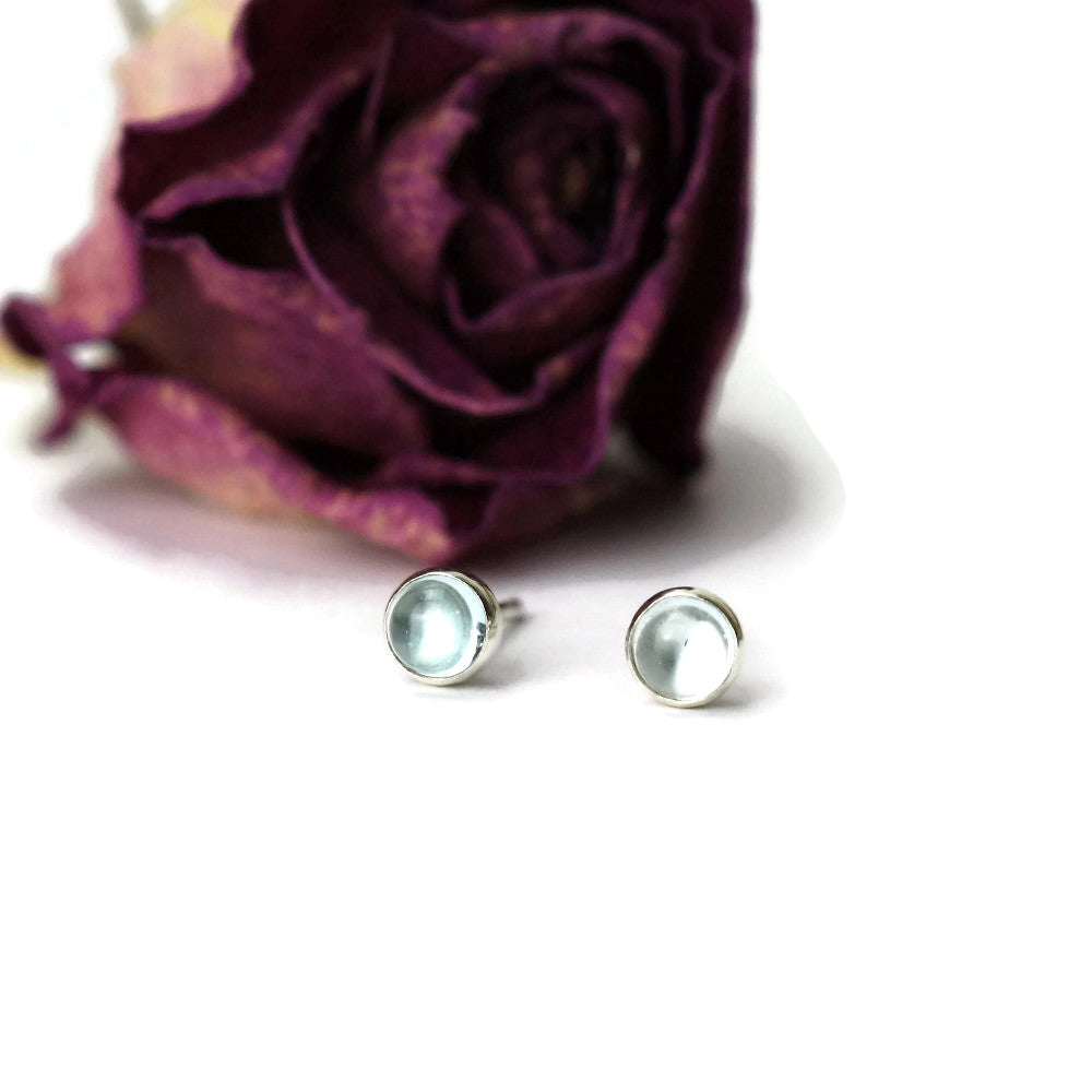 Aquamarine Gypsy Silver Earrrings
