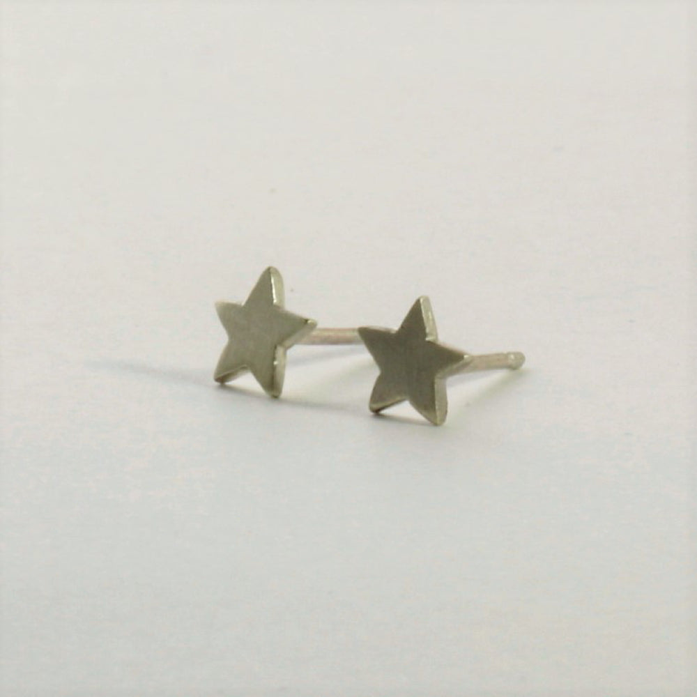 Small sterling silver star handmade earrings