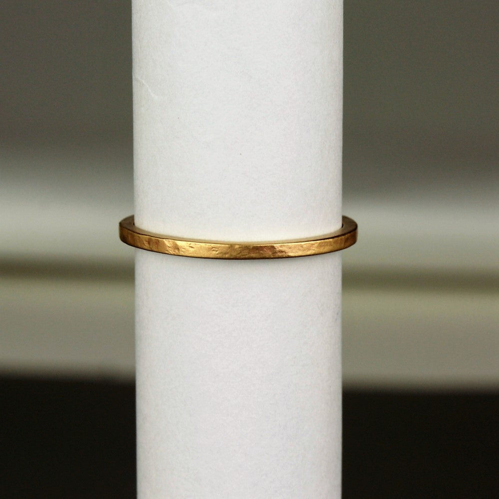 Solid handmade dainty gold ring