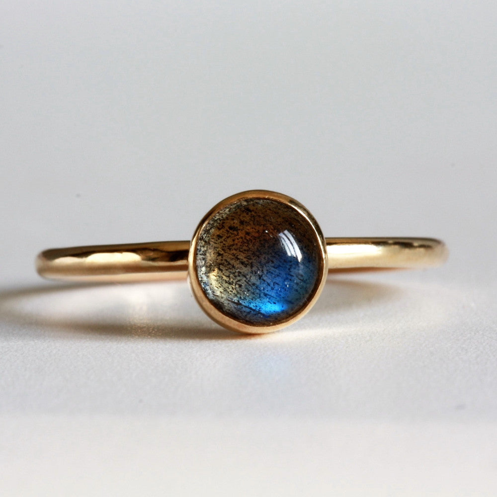 designer handmade magical labradorite solid gold ring