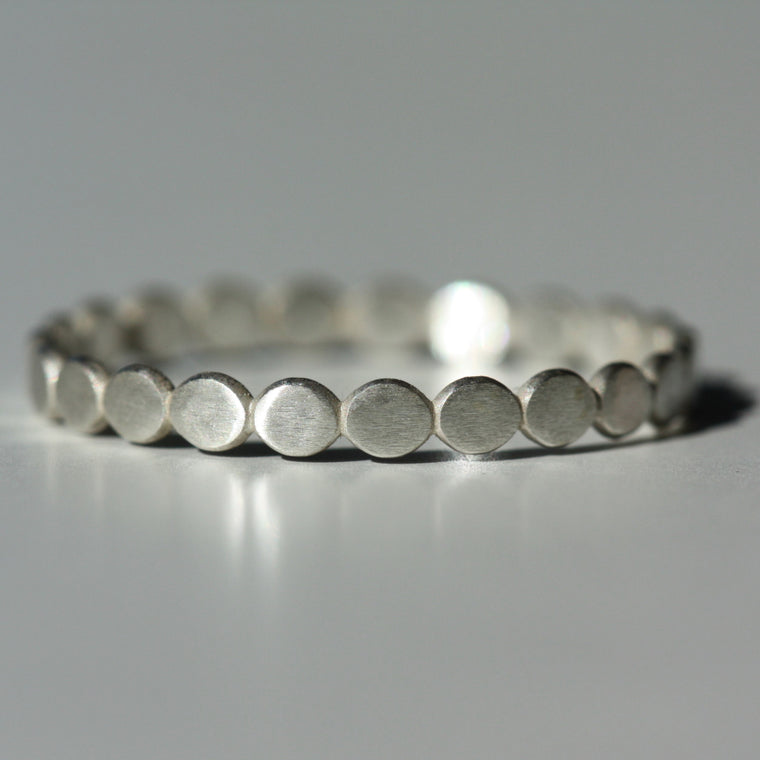 Plain Silver Pebble Ring