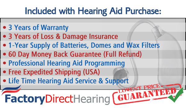 Included with hearing aids