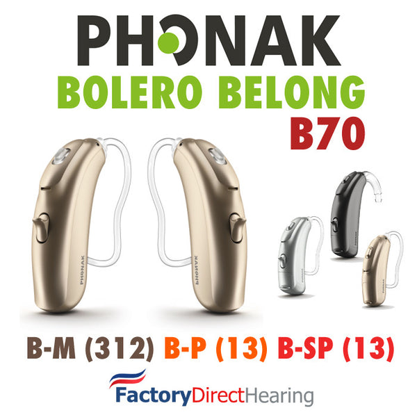 Pair - Phonak Belong Bolero B70 (M, P, SP)
