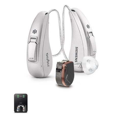 Pair - Siemens Signia Cellion Primax 5 Hearing Aid (With Rechargeable Station)