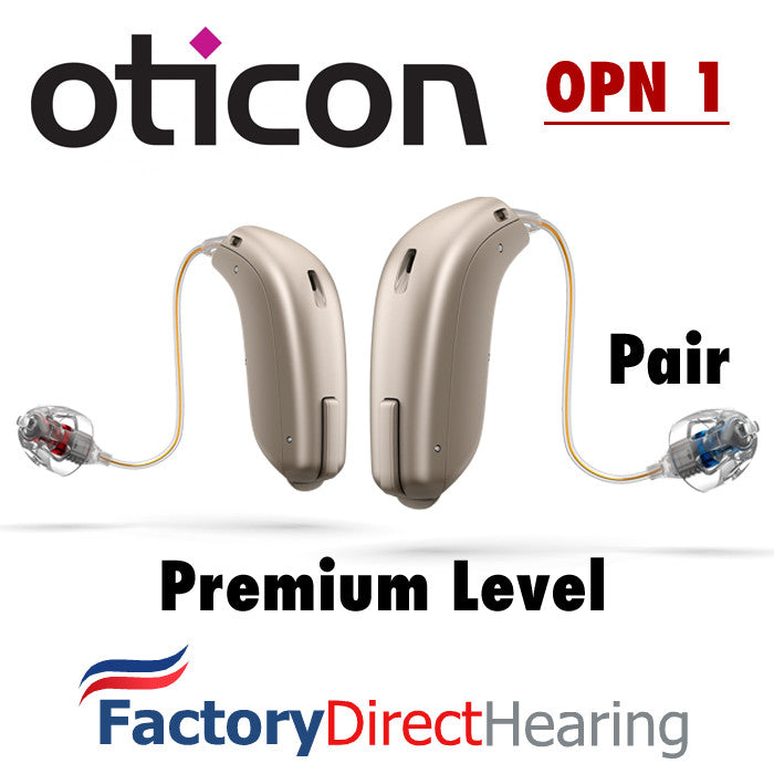 Pair Oticon Opn 1 Minirite Hearing Aids Iphone Compatible