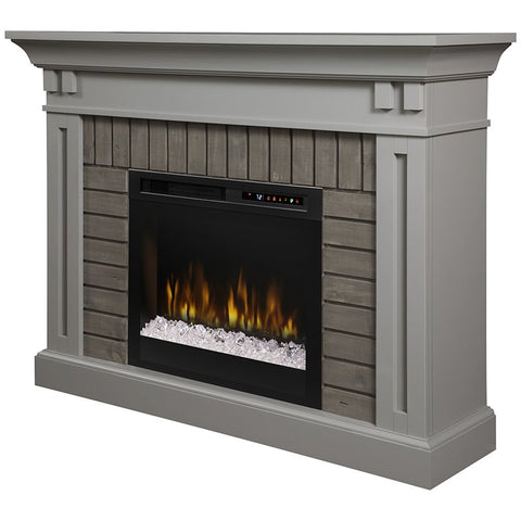 Dimplex Madison Electric Fireplace Mantel With Glass Ember Bed - GDS28G8-1968SG
