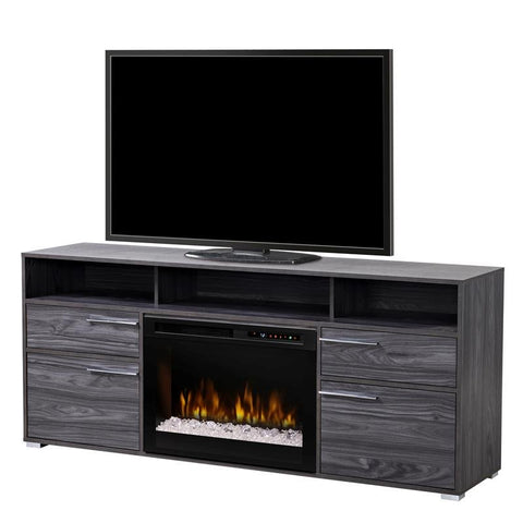 Dimplex Sander 66-Inch TV Media Console Electric Fireplace - Acrylic Ice Embers - Carbon Finish - GDS25G8-1686CW